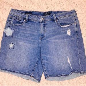 Lucky Brand Plus Size Distressed 'Georgia' Shorts